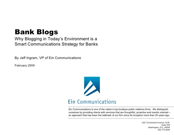 Bank Blogging