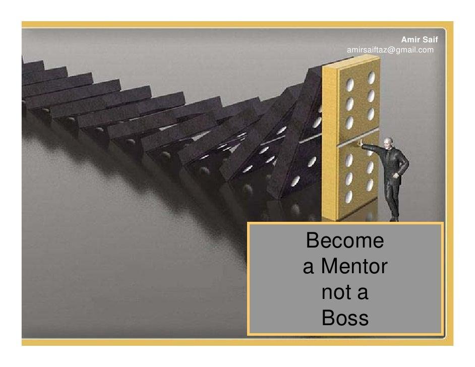 Become A Mentor not a Boss