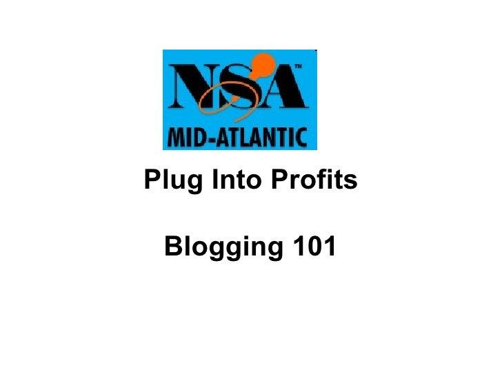 Blogging 011009