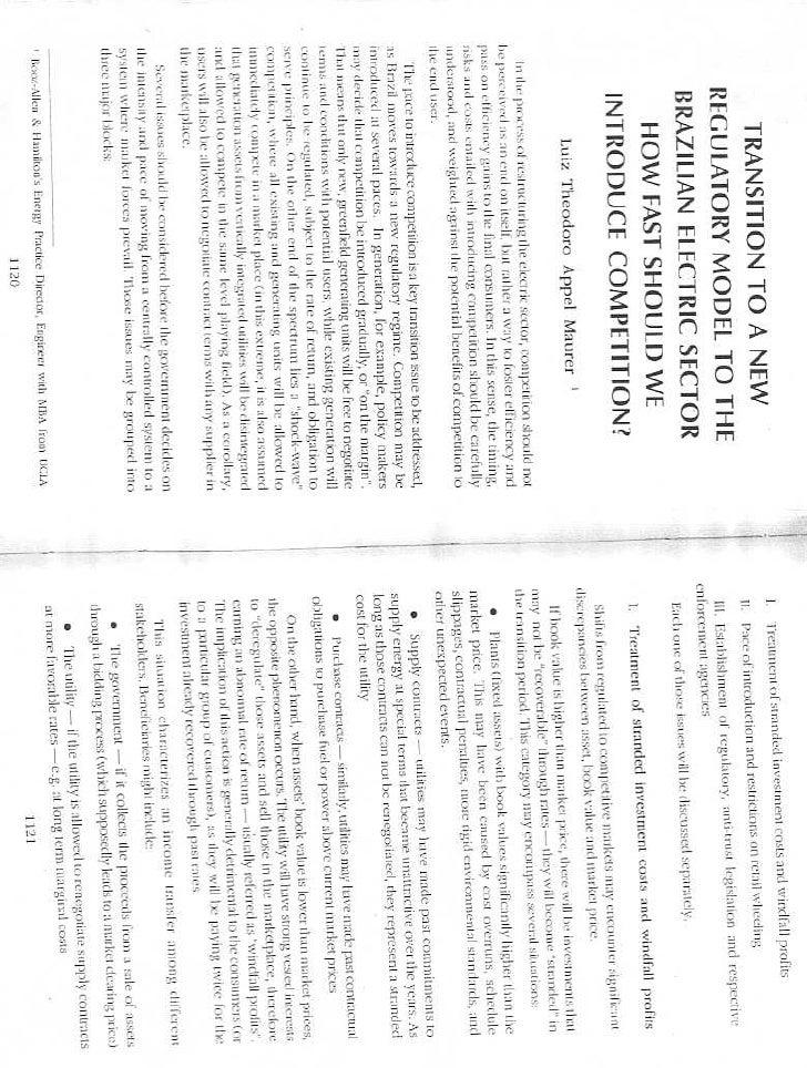 Brazil Maurer Transition Regulatory Model