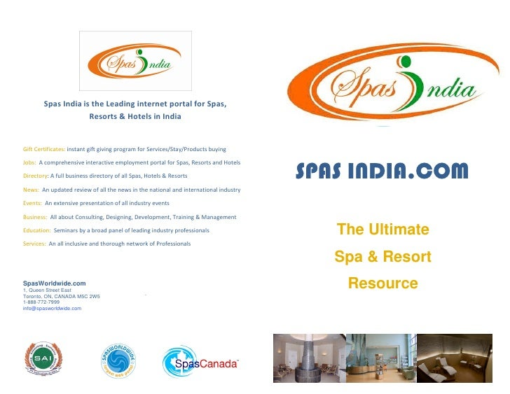 Spas India is the Leading internet portal for Spas,                      Resorts & Hotels in India   Gift Certificates: in...