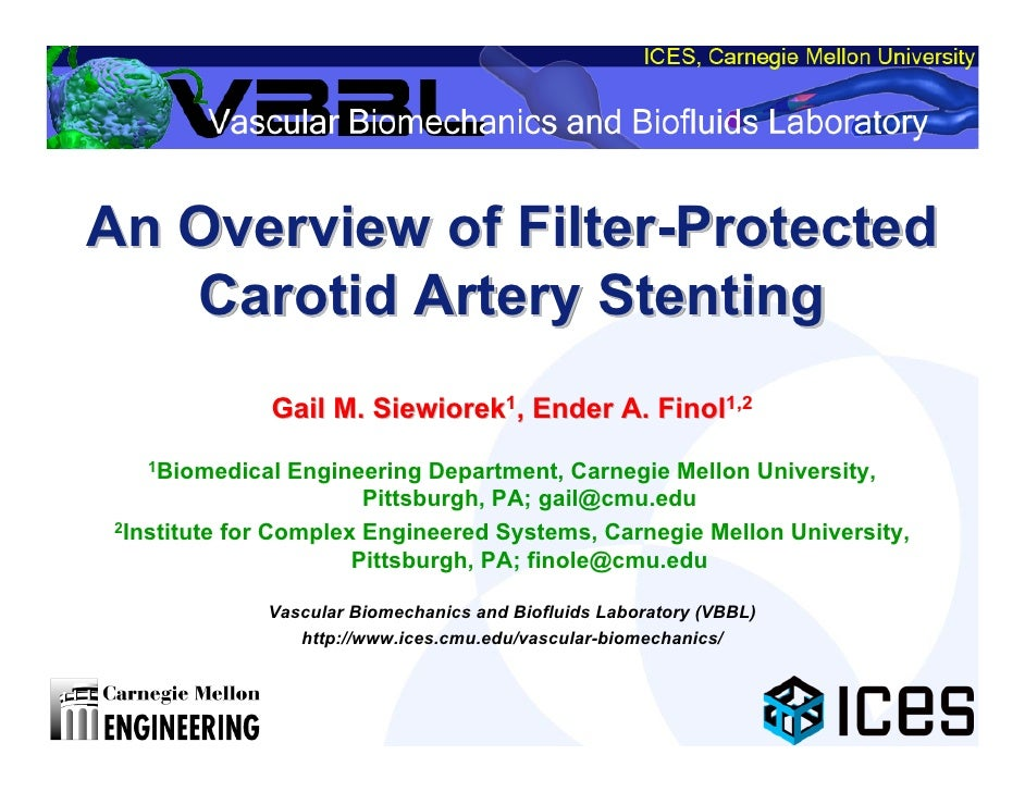 An Overview of Filter-Protected                Filter-Protected    Carotid Artery Stenting               Gail M. Siewiorek...