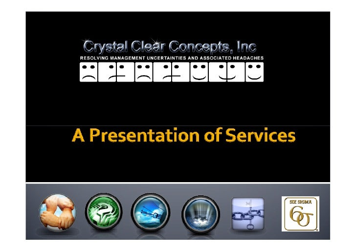 CRYSTAL CLEAR CONCEPTS, INC. is a full-service management consulting firm specializing in human resource and organizationa...