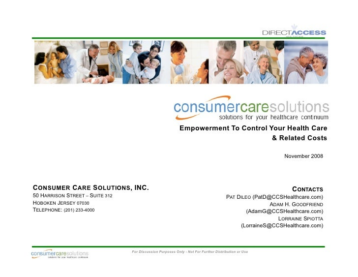 Empowerment to Control Your Healthcare & Related Costs