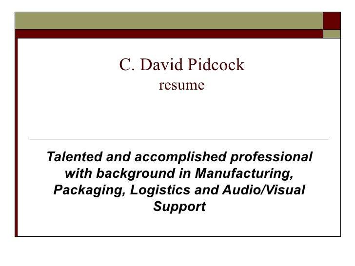 C D P  Resume 2