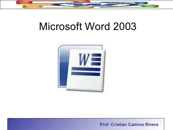 microsoft word 2003 en pdf