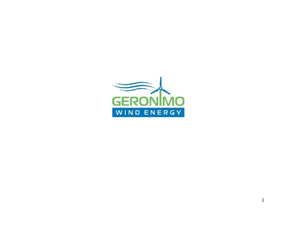 Geronimo Wind Development Model