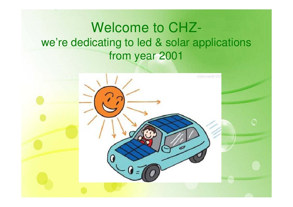 Chz  Committed To Green Solar Tech 2009