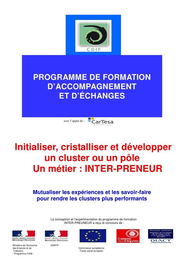 PROGRAMME DE FORMATION                      D'ACCOMPAGNEMENT                         ET D'ÉCHANGES                        ...