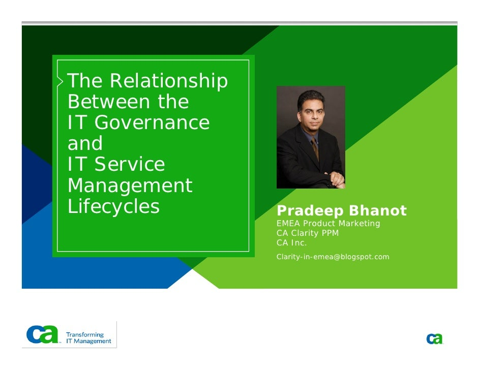 The Relationship Between ITG and ITSM Lifecycles