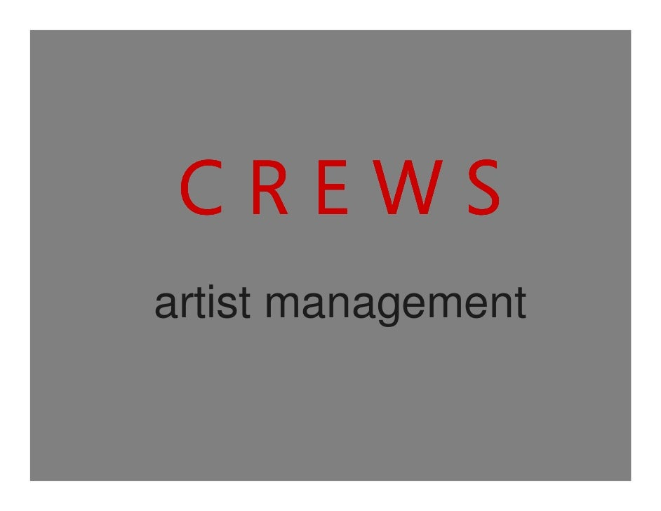 CREWS - An Artist Agency