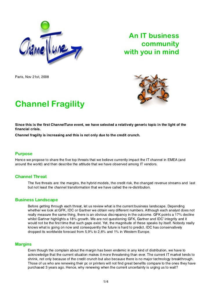 Channel Fragility Notes