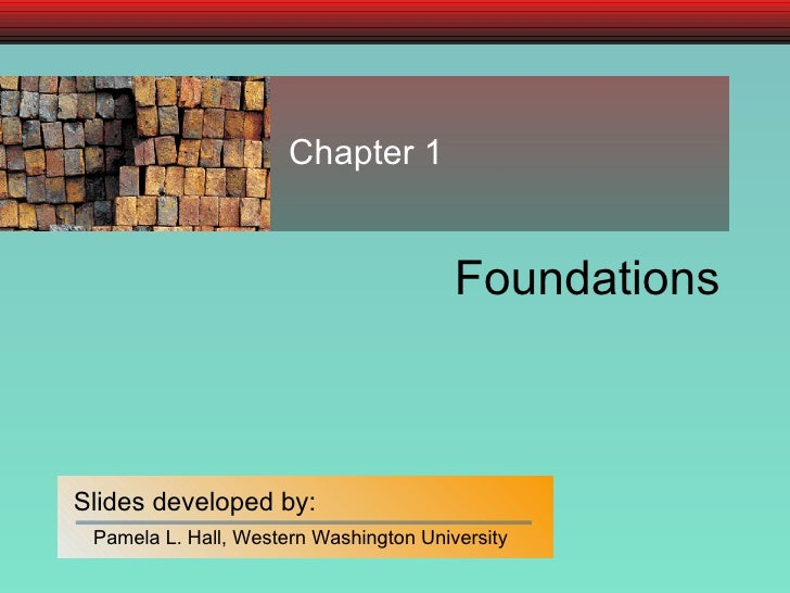 Chapter 01 Foundation