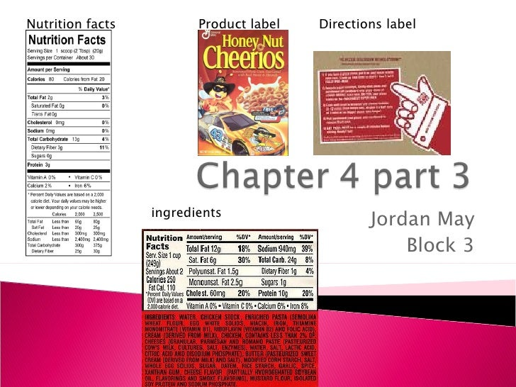 Jordan May Block 3 Nutrition facts ingredients Product label Directions label