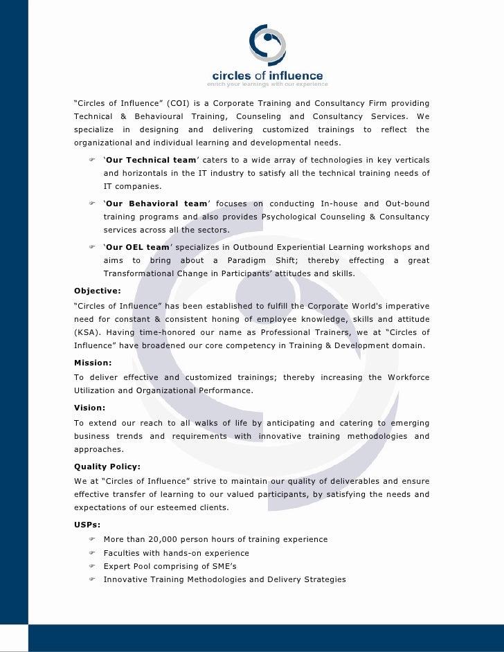 Circles Of Influence   Company Profile