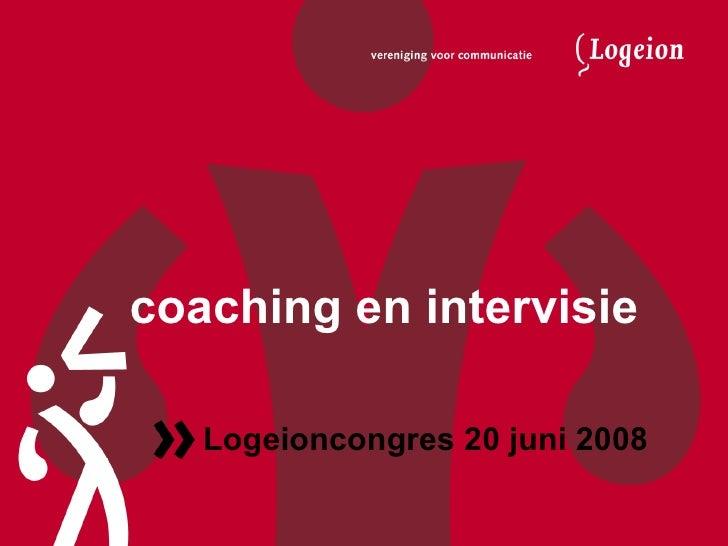 Coaching & Intervisie Logeioncongres 2008