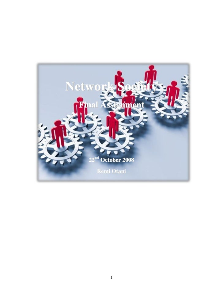 Communities In Network Society