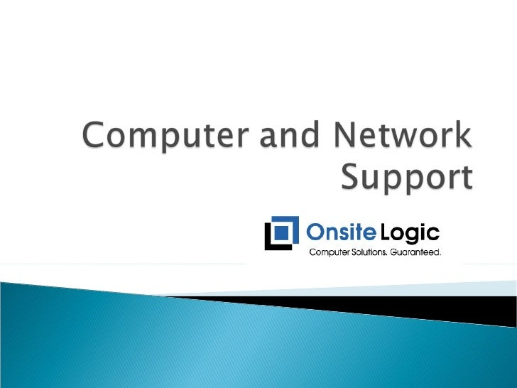 Computer And Network Support