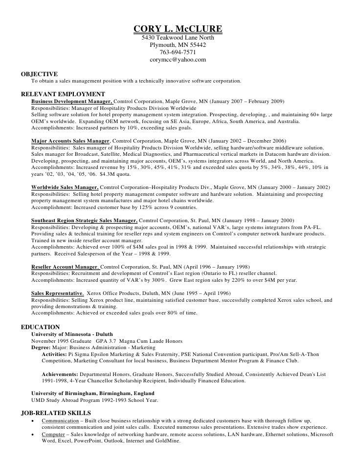 mc clure resume