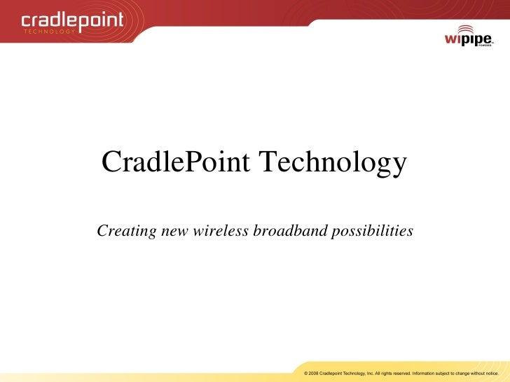 Cradlepoint   Key Applications   Final