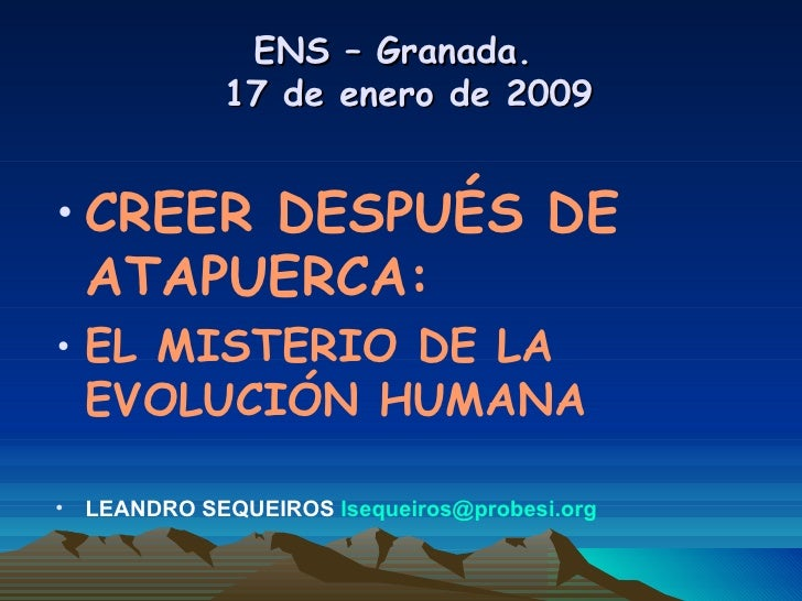 Creer Despues Atapuerca