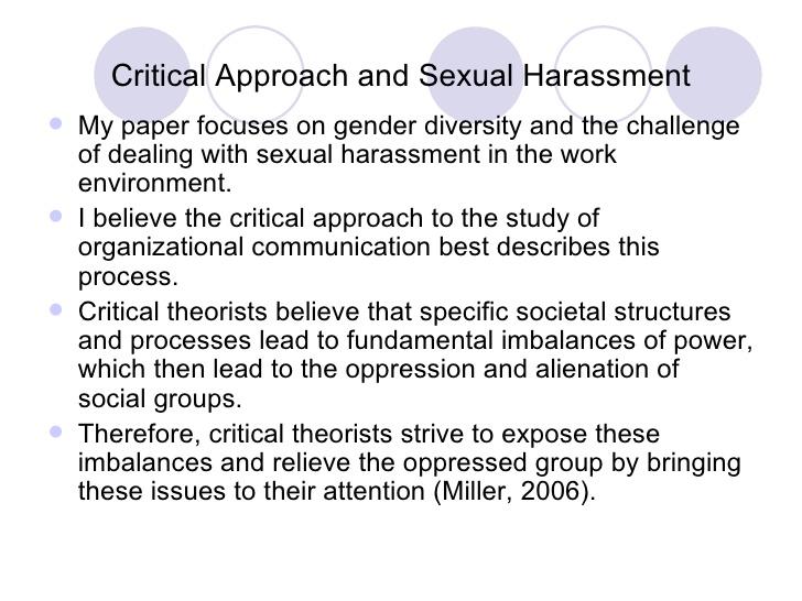 harassment essay