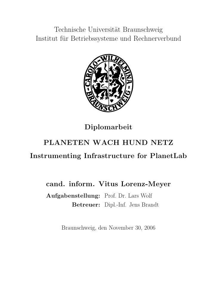 Technische Universit¨t Braunschweig                             a  Institut f¨r Betriebssysteme und Rechnerverbund        ...