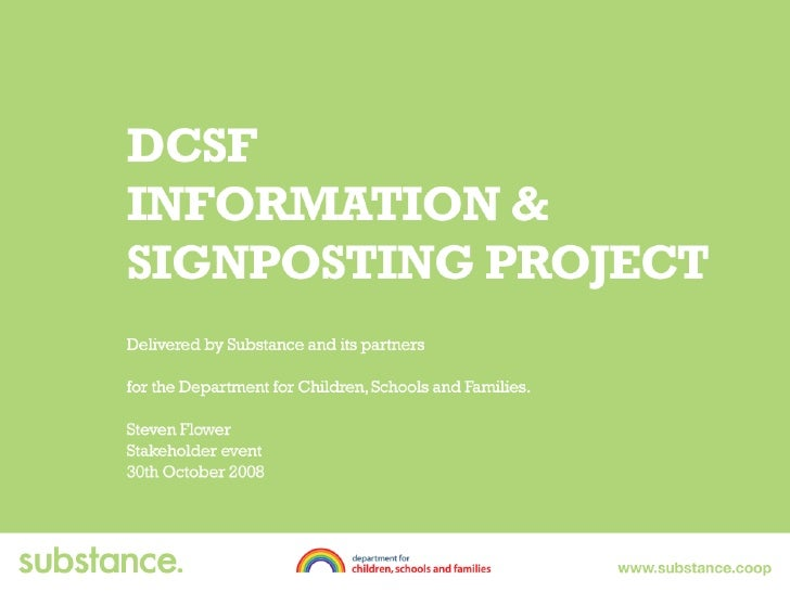 Dcsf Stakeholder 30th Oct