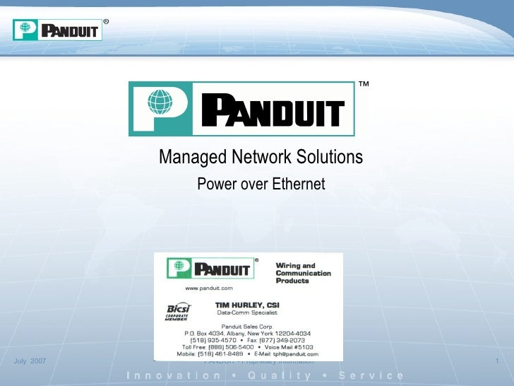 Managed Network Solutions Power over Ethernet