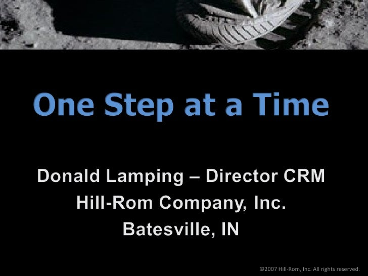 ©2007 Hill-Rom, Inc. All rights reserved.