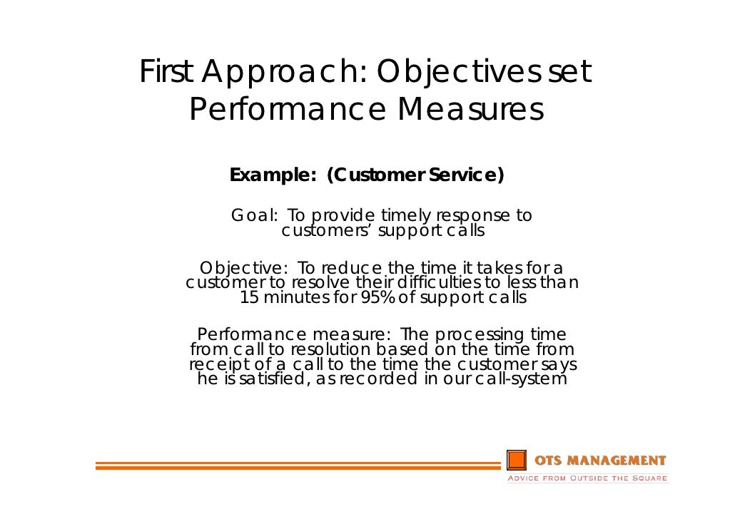 customer service objectives examples