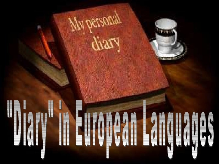"""Diary"" in European Languages"