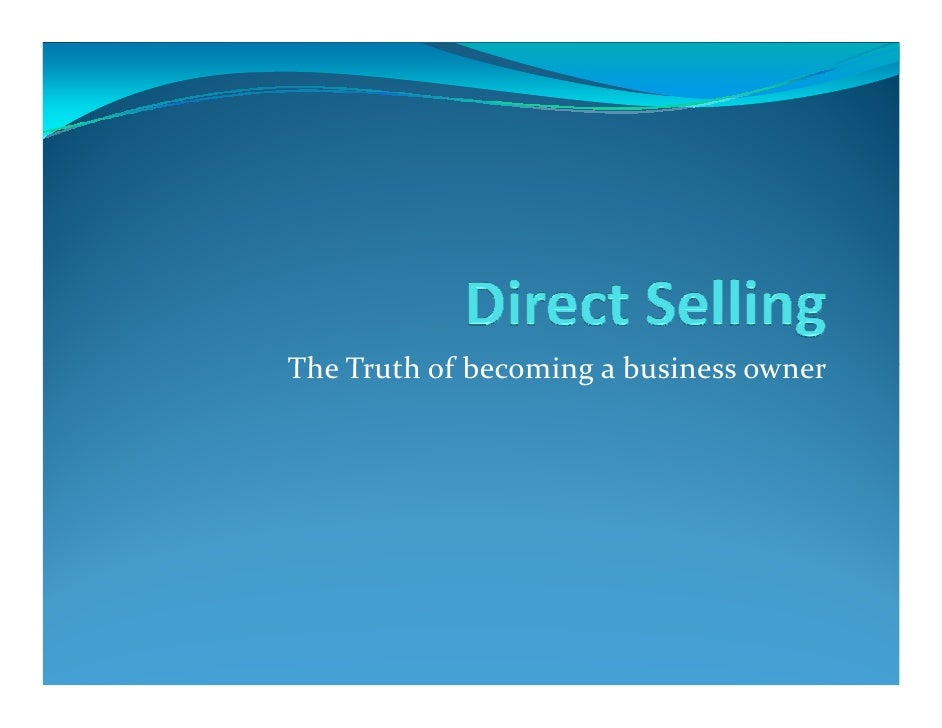 Direct Selling  Make Your Own Future