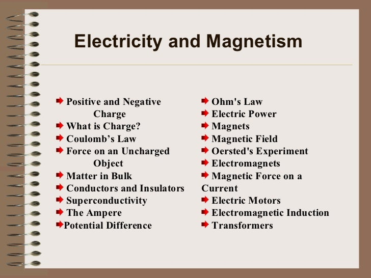 Electricity And Magnetism Year 10