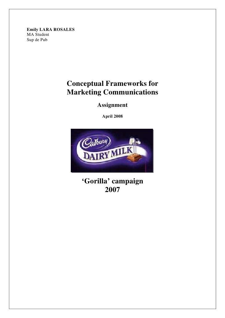 Emily LARA ROSALES MA Student Sup de Pub                    Conceptual Frameworks for                Marketing Communicati...