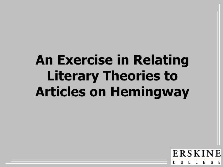Hemingway and Literary Theories