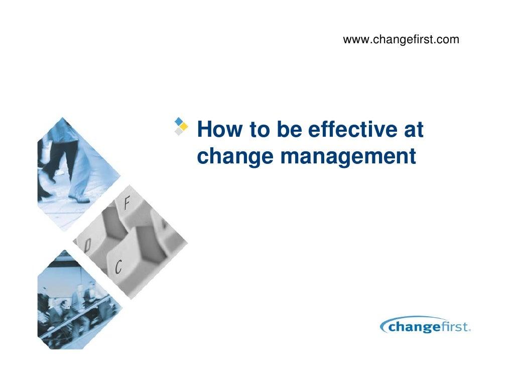 Effective Change Management