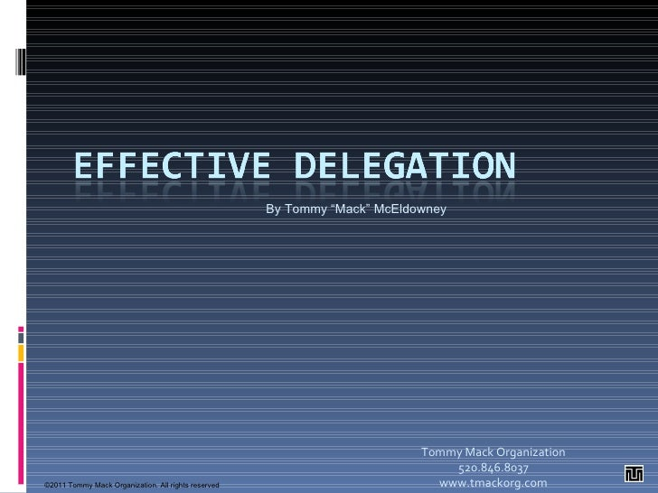 the importance of delegation
