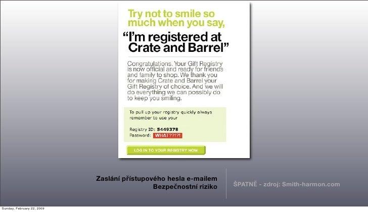 Zaslání přístupového hesla e-mailem                                                                    ŠPATNĚ - zdroj: Smi...