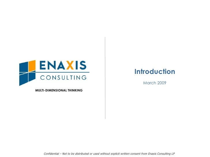 Enaxis Overview For Linked In