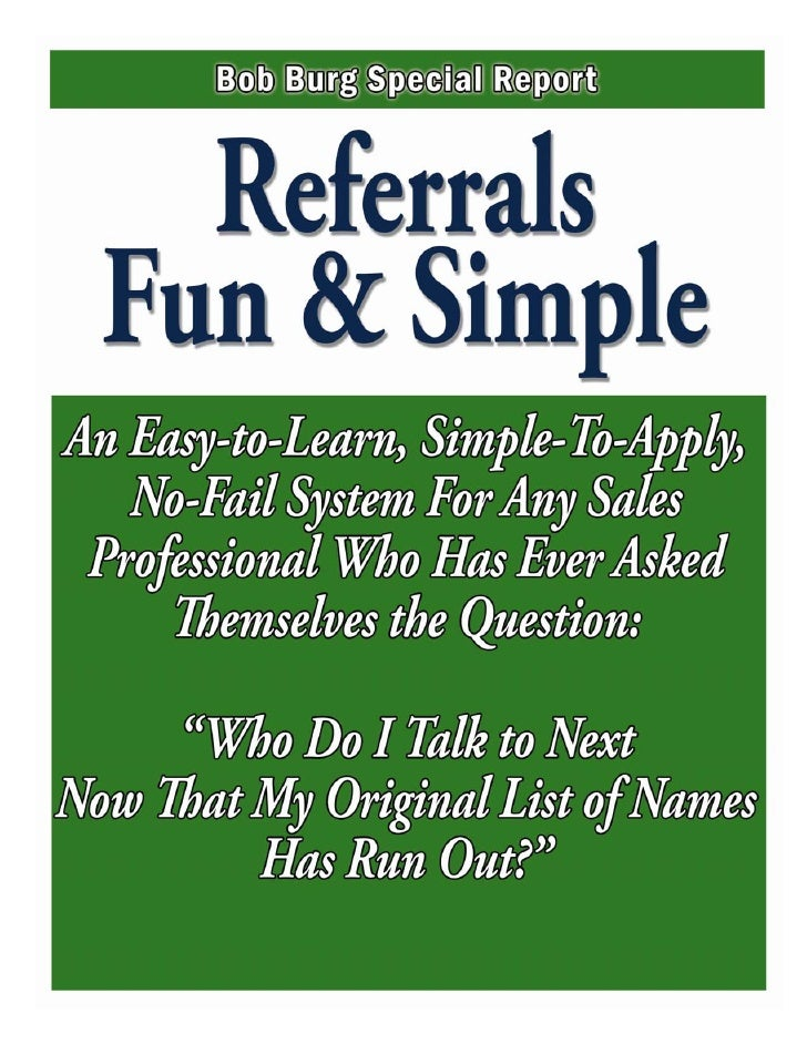 Endless Referrals System