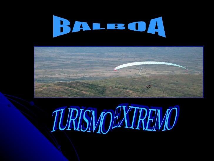 TURISMO POR BALBOA