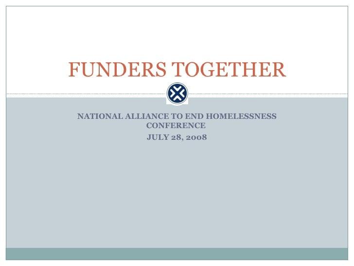 Funding Principles for Ending Homelessness