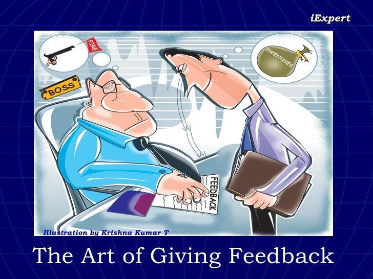 The Art of Giving Feedback Illustration by Krishna Kumar T