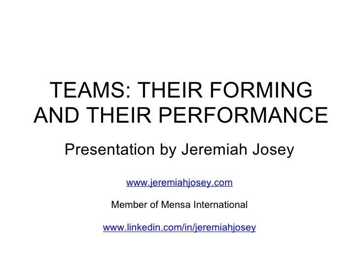 Forming A Team Presentation 20081118