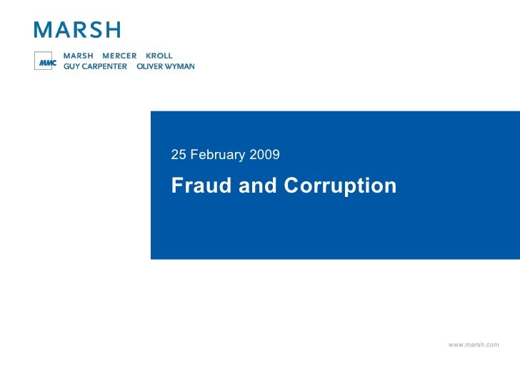 Fraud and Corruption 25 February 2009