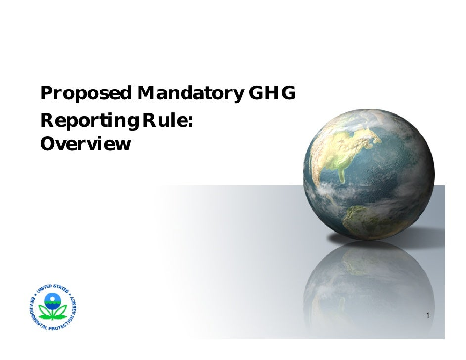 GHG Mandatory Reporting Rule Overview