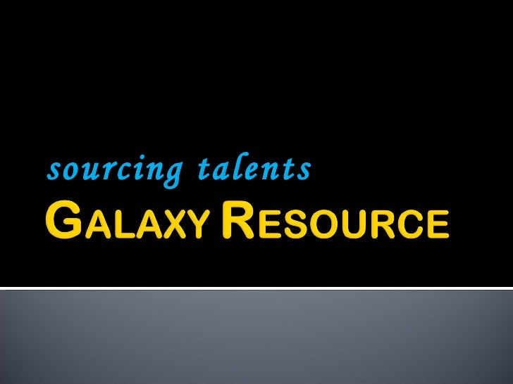 sourcing talents