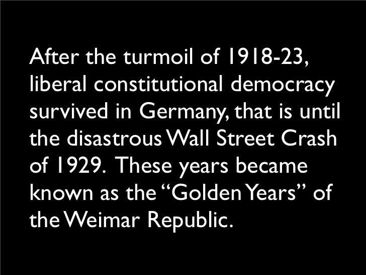 Weimar republic golden years essay help