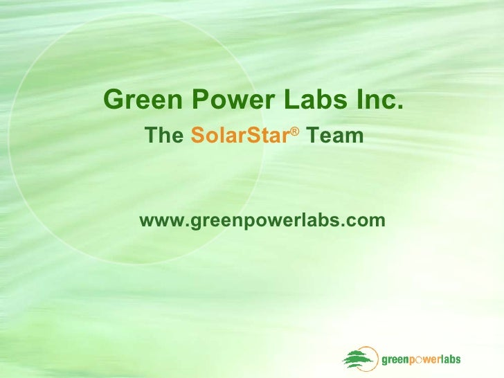 Green Power Labs Solar Suitability Assessment